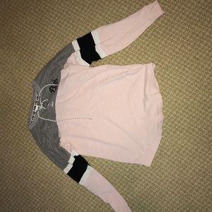 pink long sleve shirt